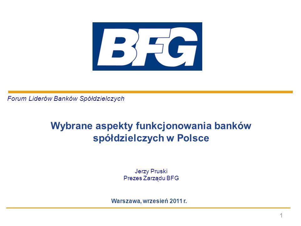Wybrane aspekty funkcjonowania banków spółdzielczych w Polsce