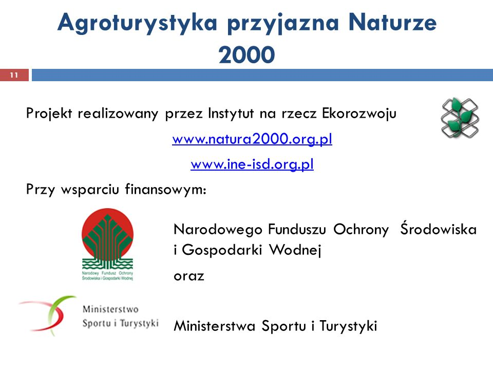 Agroturystyka przyjazna Naturze 2000