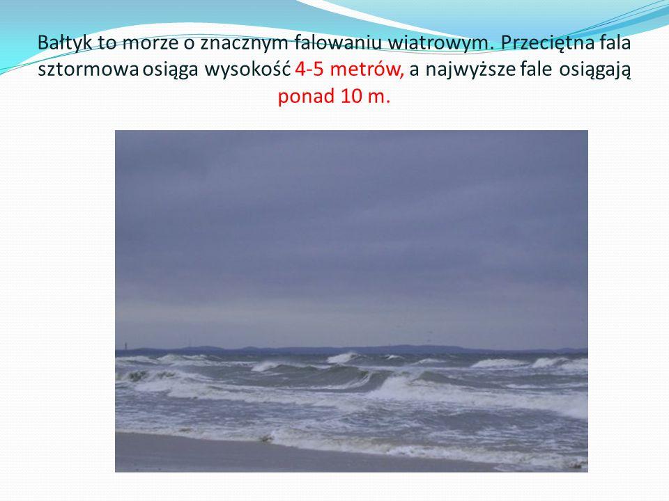 Bałtyk to morze o znacznym falowaniu wiatrowym
