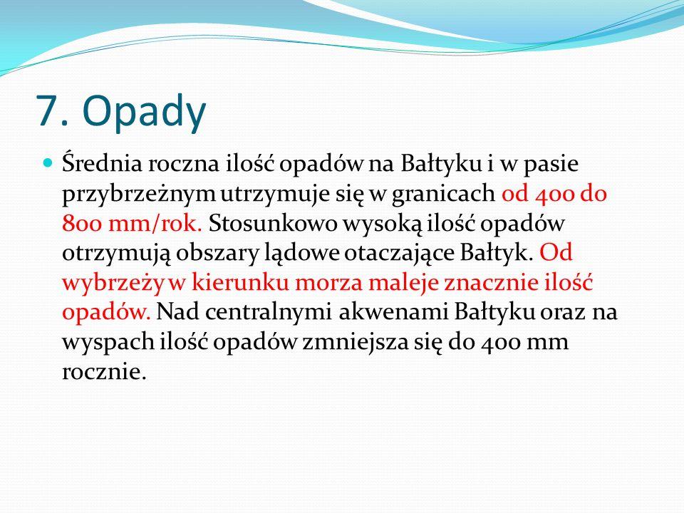 7. Opady