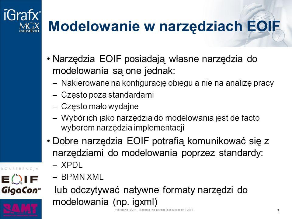 Modelowanie w narzędziach EOIF