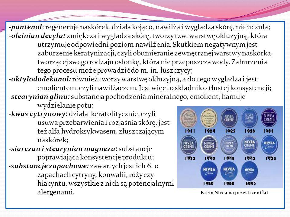 kwas cytrynowy: działa keratolitycznie, czyli