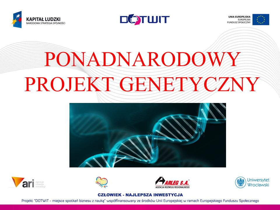 PONADNARODOWY PROJEKT GENETYCZNY