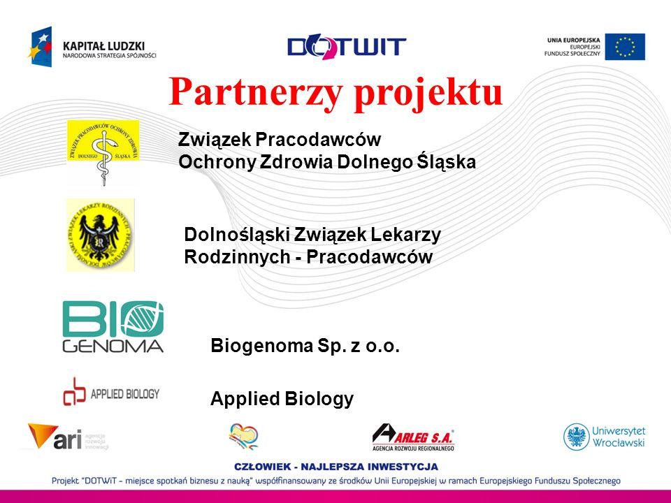 Partnerzy projektu Związek Pracodawców Ochrony Zdrowia Dolnego Śląska