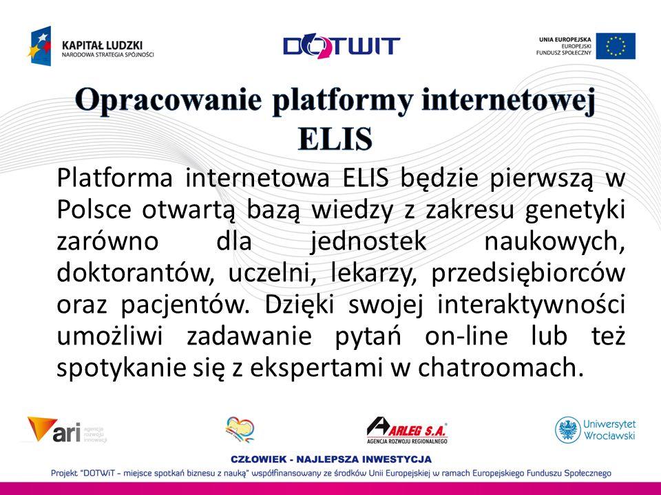 Opracowanie platformy internetowej ELIS