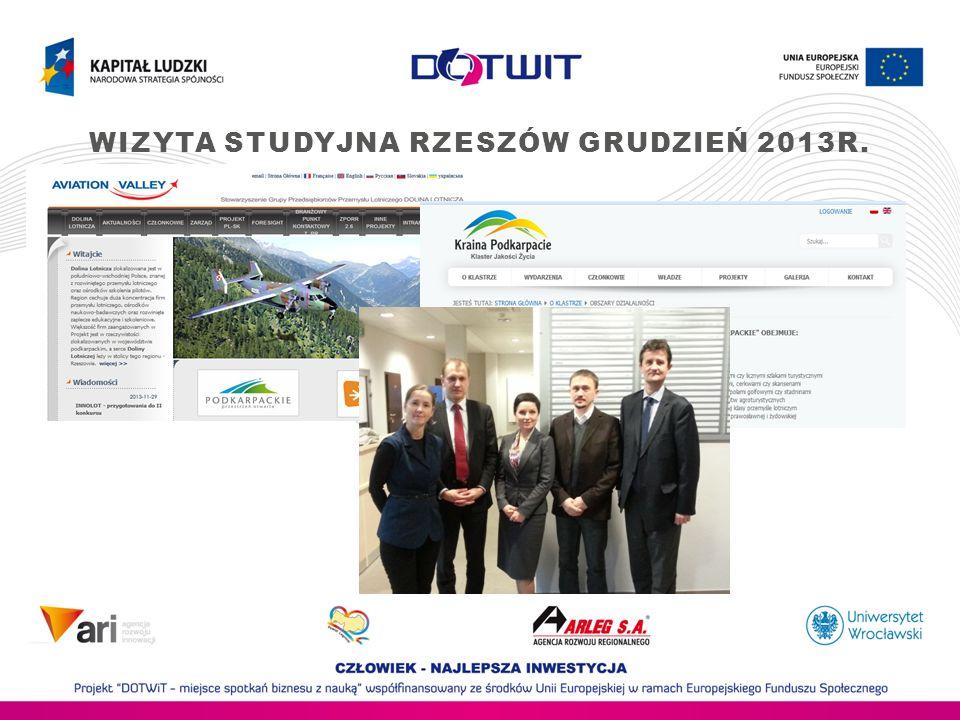 Wizyta studyjna Rzeszów Grudzień 2013r.