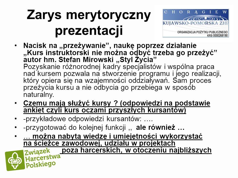 Zarys merytoryczny prezentacji