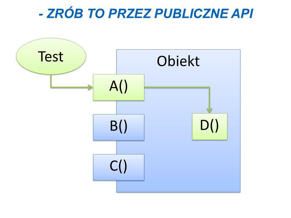 - Zrób to przez publiczne API