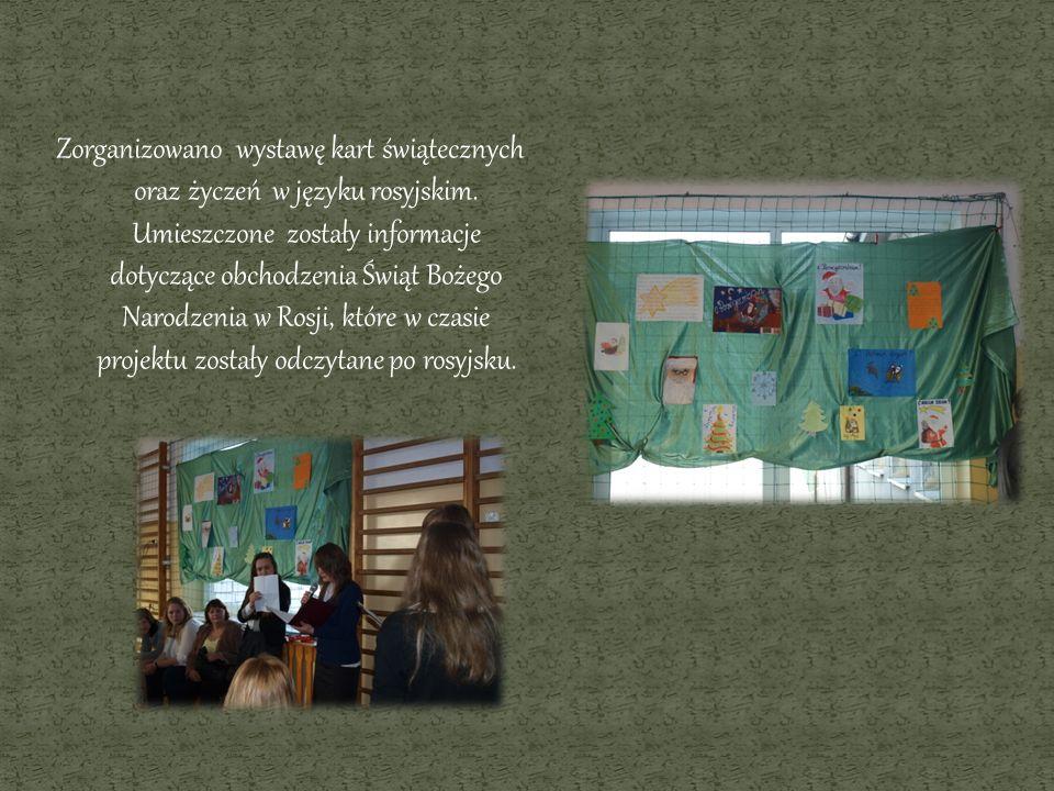 Zorganizowano wystawę kart świątecznych oraz życzeń w języku rosyjskim