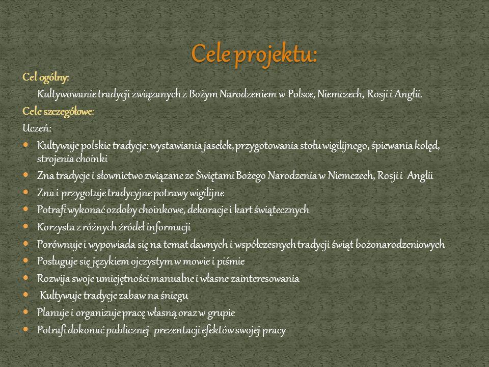 Cele projektu: Cel ogólny: