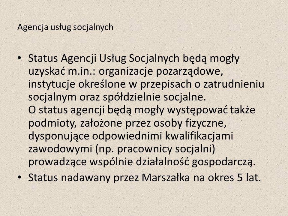 Agencja usług socjalnych