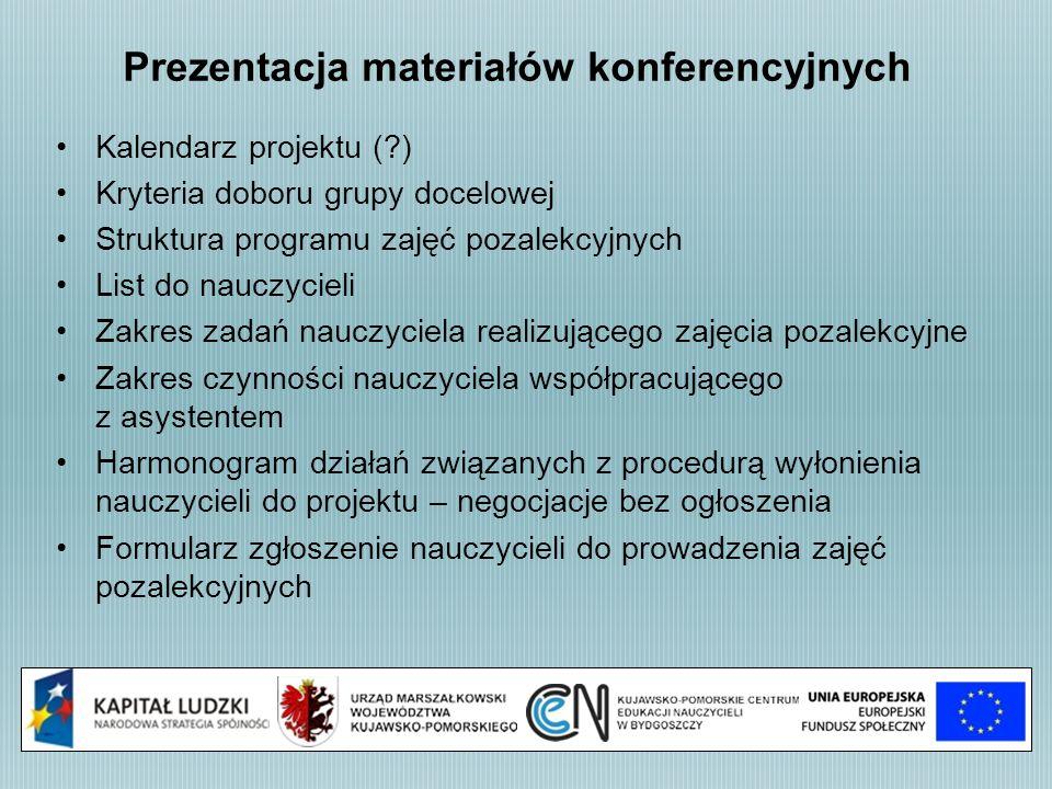 Prezentacja materiałów konferencyjnych