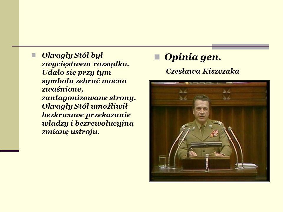 Opinia gen. Czesława Kiszczaka