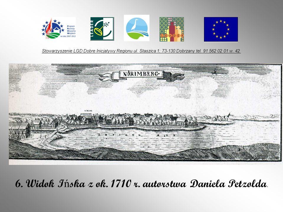 6. Widok Ińska z ok. 1710 r. autorstwa Daniela Petzolda.