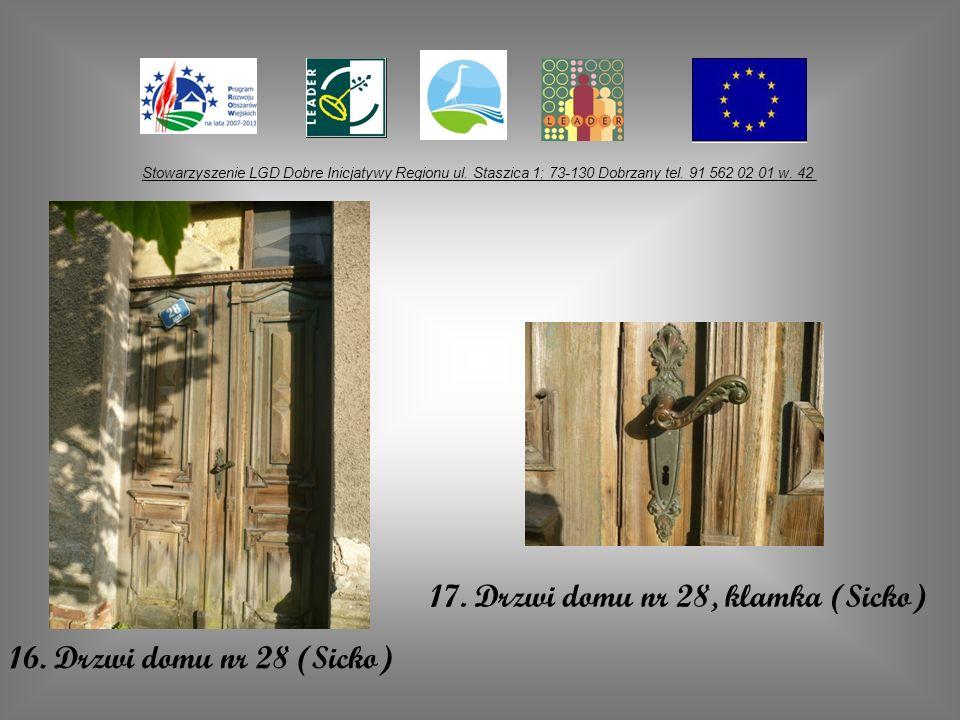 17. Drzwi domu nr 28, klamka (Sicko)