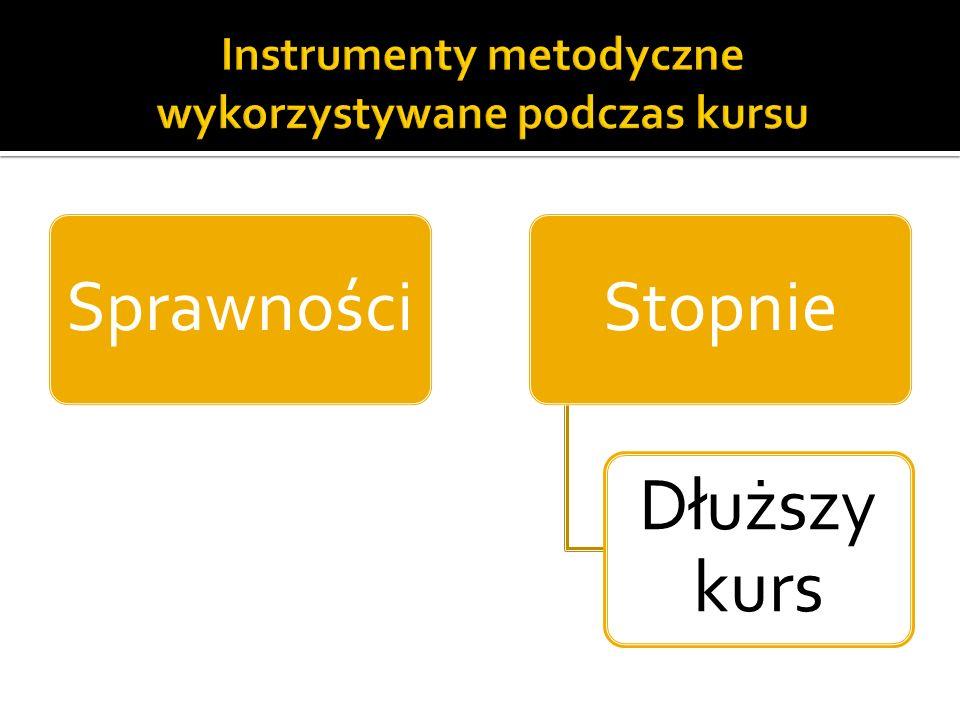 Instrumenty metodyczne wykorzystywane podczas kursu