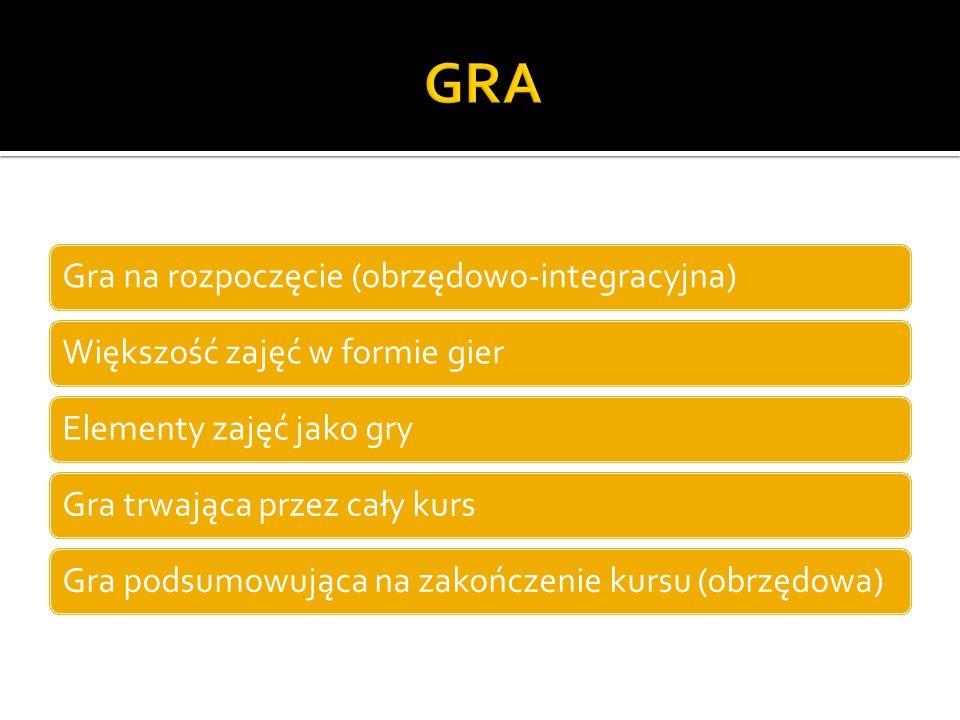 GRA Gra na rozpoczęcie (obrzędowo-integracyjna)