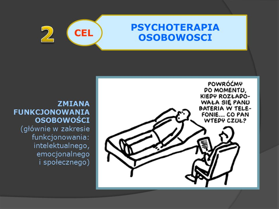 PSYCHOTERAPIA OSOBOWOSCI