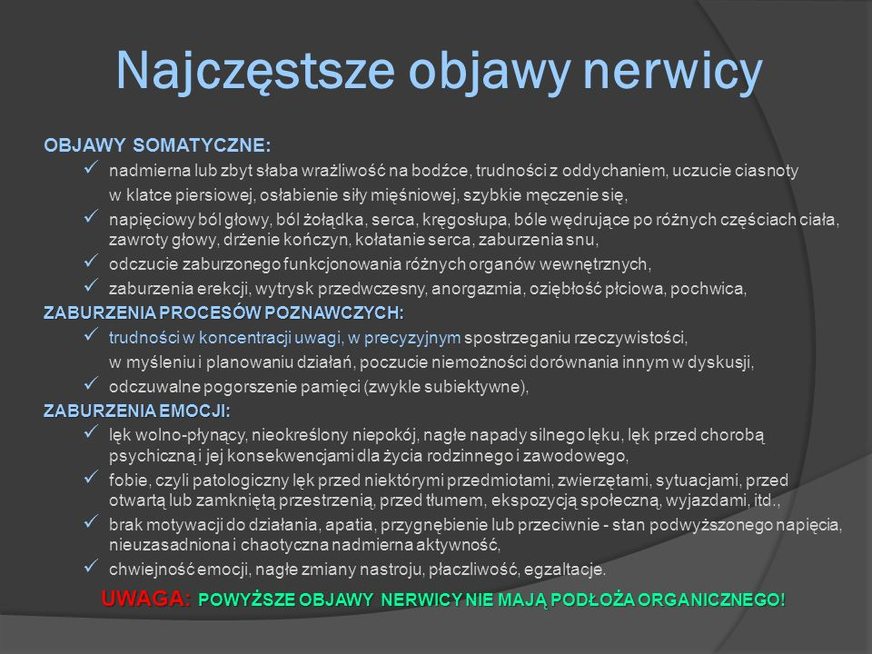 Najczęstsze objawy nerwicy