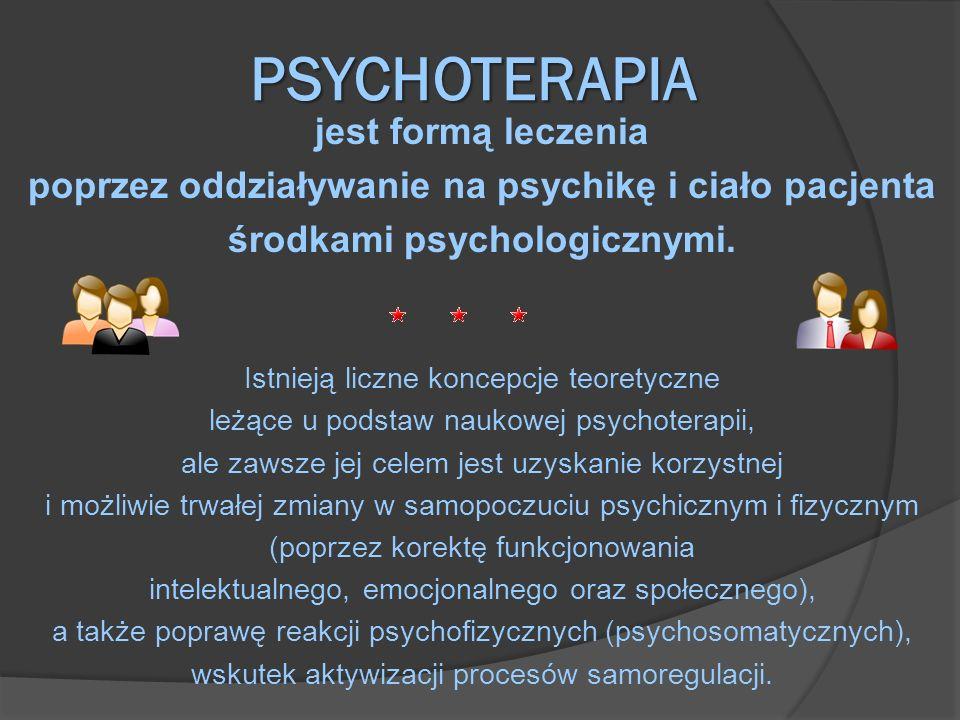 PSYCHOTERAPIA jest formą leczenia