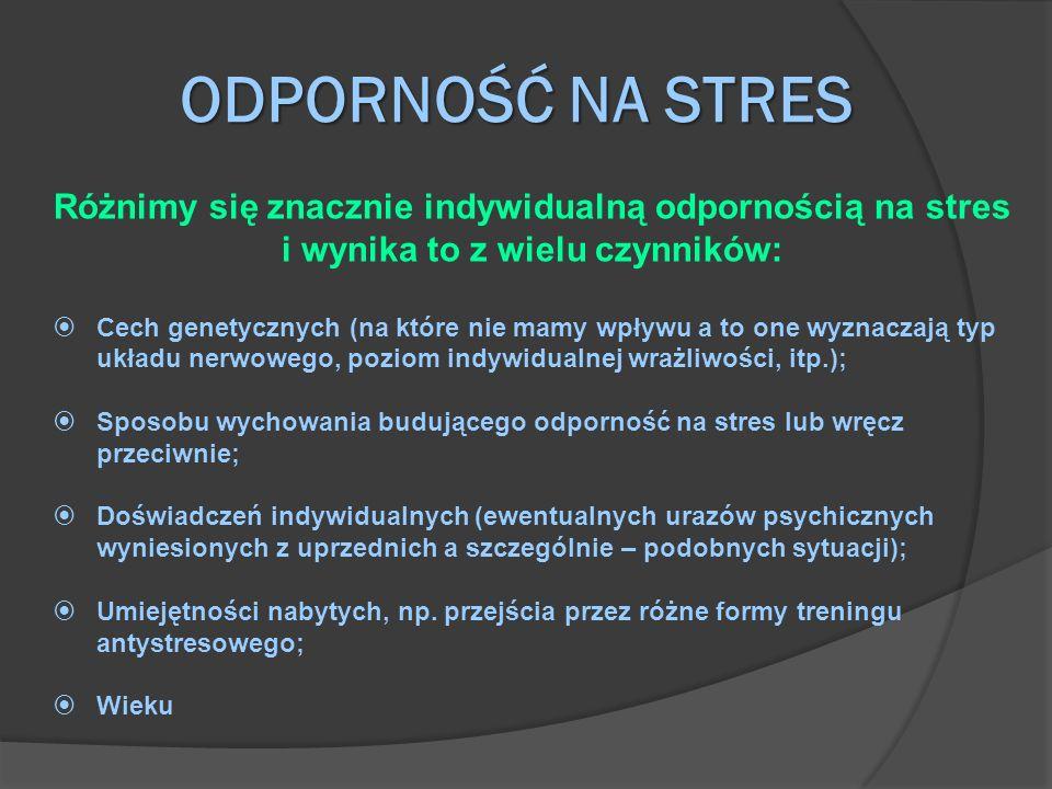 Różnimy się znacznie indywidualną odpornością na stres