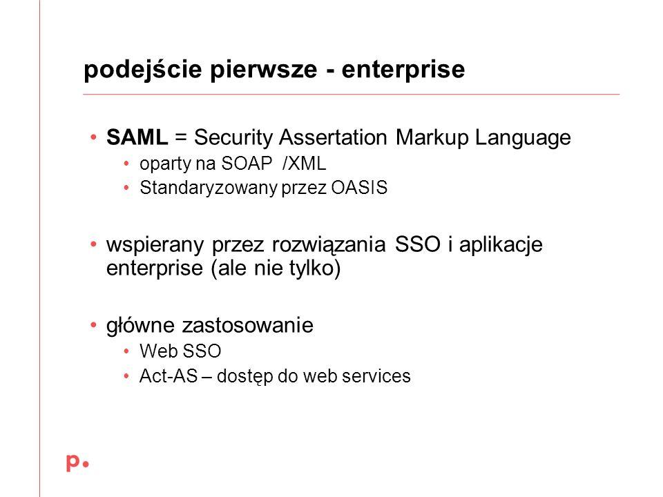 podejście pierwsze - enterprise