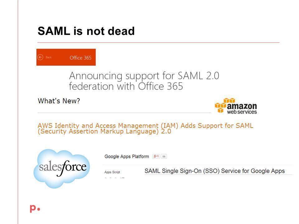 SAML is not dead December 12,2013