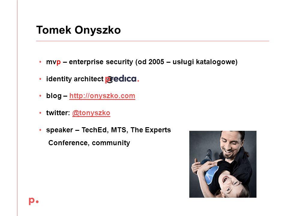 Tomek Onyszko mvp – enterprise security (od 2005 – usługi katalogowe)