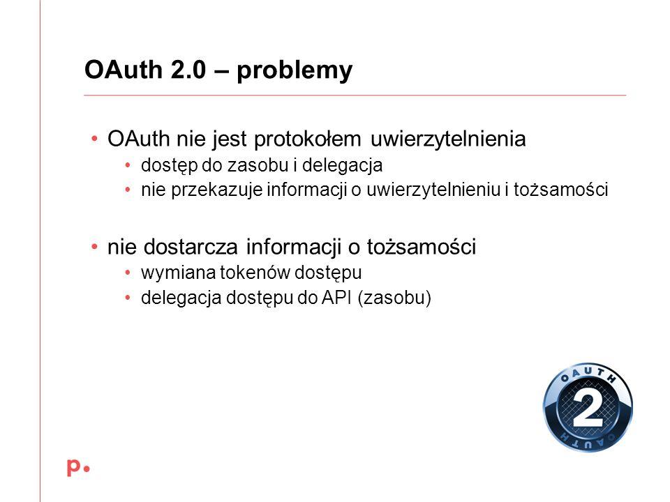 OAuth 2.0 – problemy OAuth nie jest protokołem uwierzytelnienia