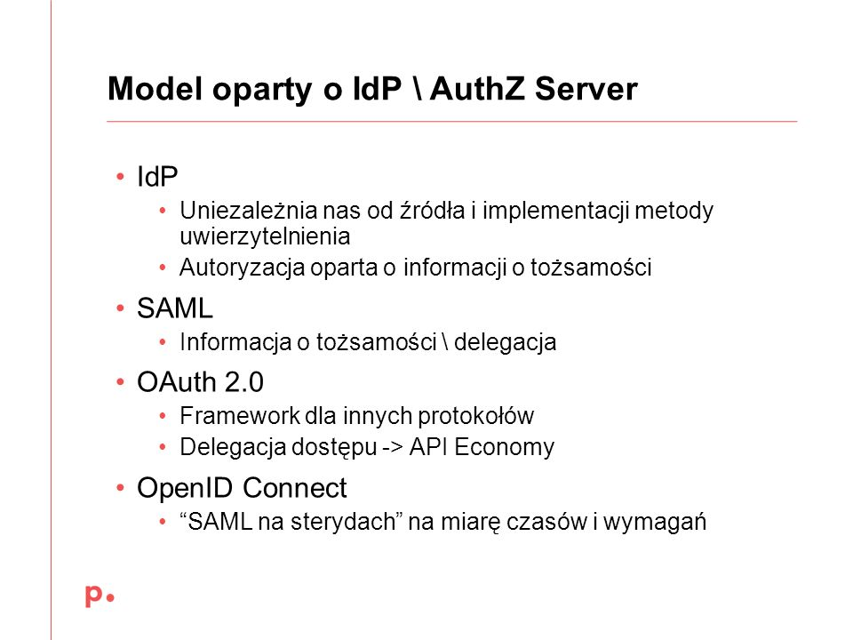 Model oparty o IdP \ AuthZ Server