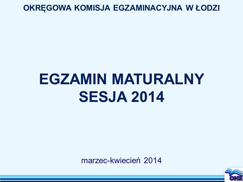 EGZAMIN MATURALNY SESJA 2014