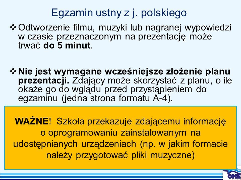 Egzamin ustny z j. polskiego