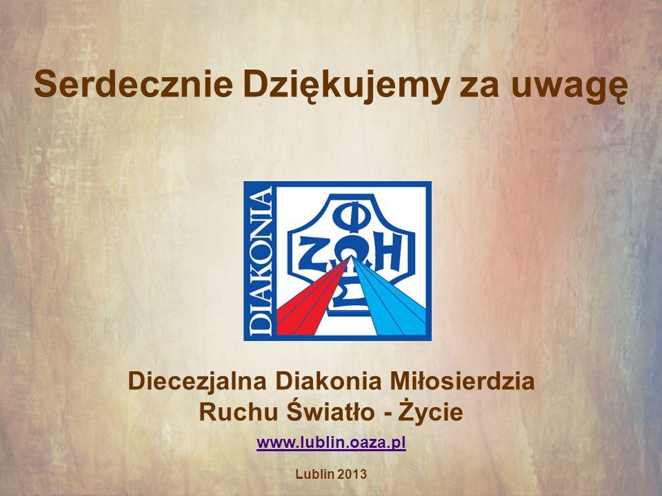 Serdecznie Dziękujemy za uwagę Diecezjalna Diakonia Miłosierdzia