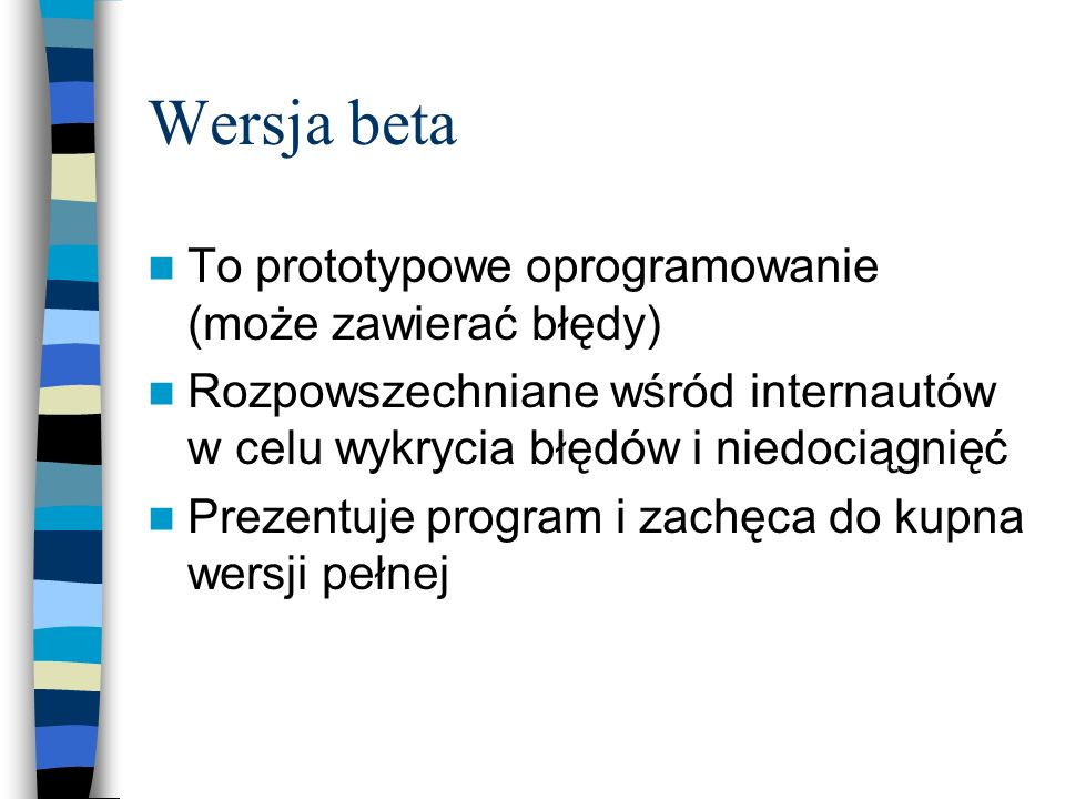 Wersja beta To prototypowe oprogramowanie (może zawierać błędy)