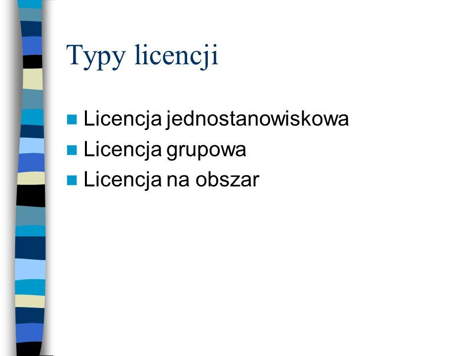 Typy licencji Licencja jednostanowiskowa Licencja grupowa