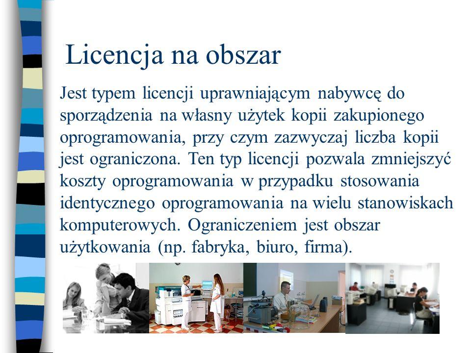 Licencja na obszar