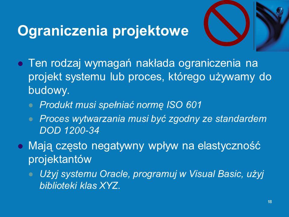 Ograniczenia projektowe