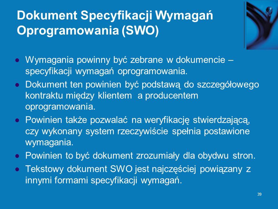 Dokument Specyfikacji Wymagań Oprogramowania (SWO)