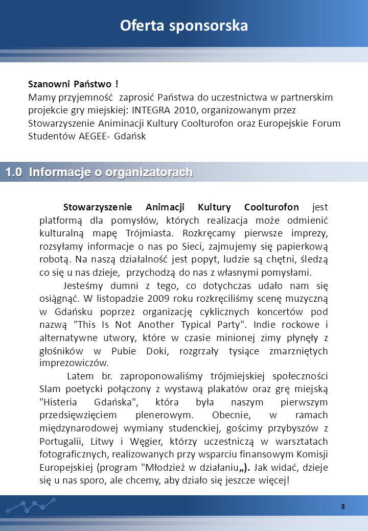 Oferta sponsorska 1.0 Informacje o organizatorach Szanowni Państwo !