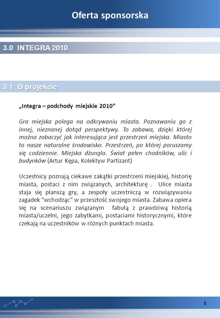 Oferta sponsorska 3.0 INTEGRA 2010 3.1 O projekcie