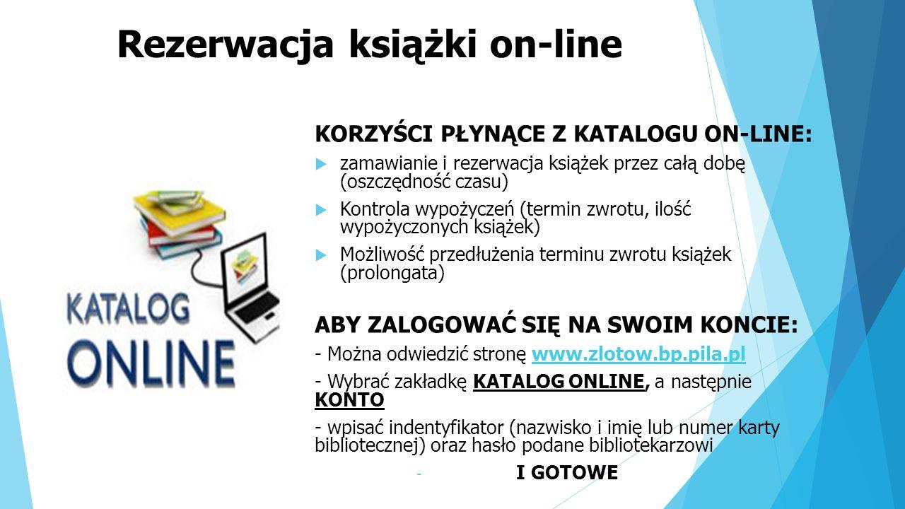 Rezerwacja książki on-line