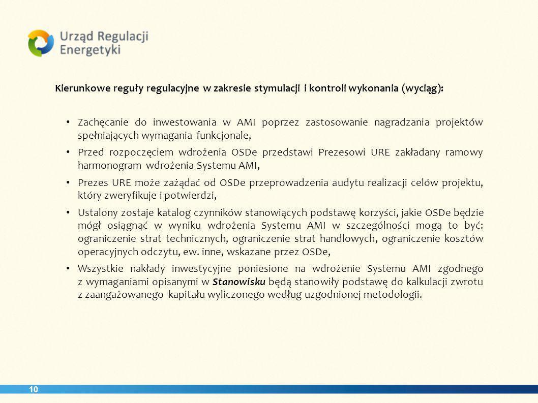 Kierunkowe reguły regulacyjne w zakresie stymulacji i kontroli wykonania (wyciąg):