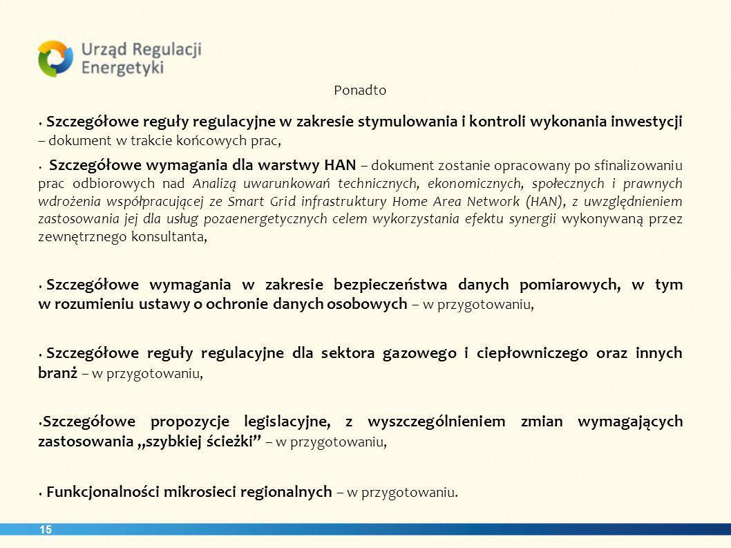 Funkcjonalności mikrosieci regionalnych – w przygotowaniu.