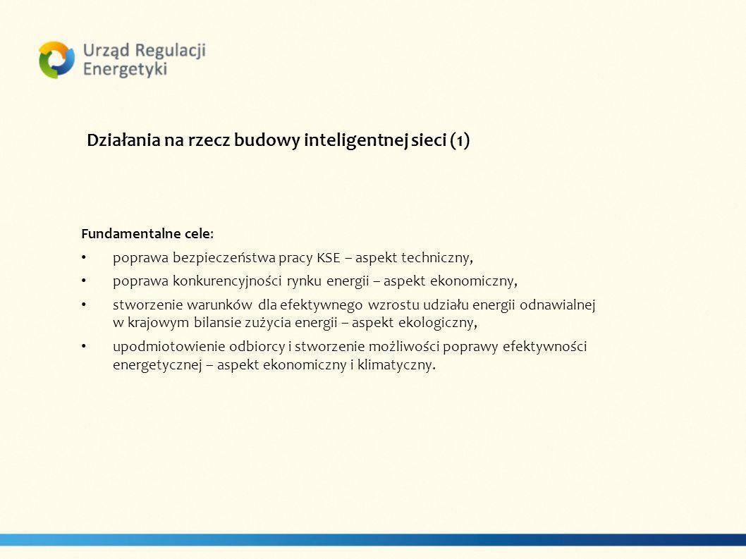 Działania na rzecz budowy inteligentnej sieci (1)