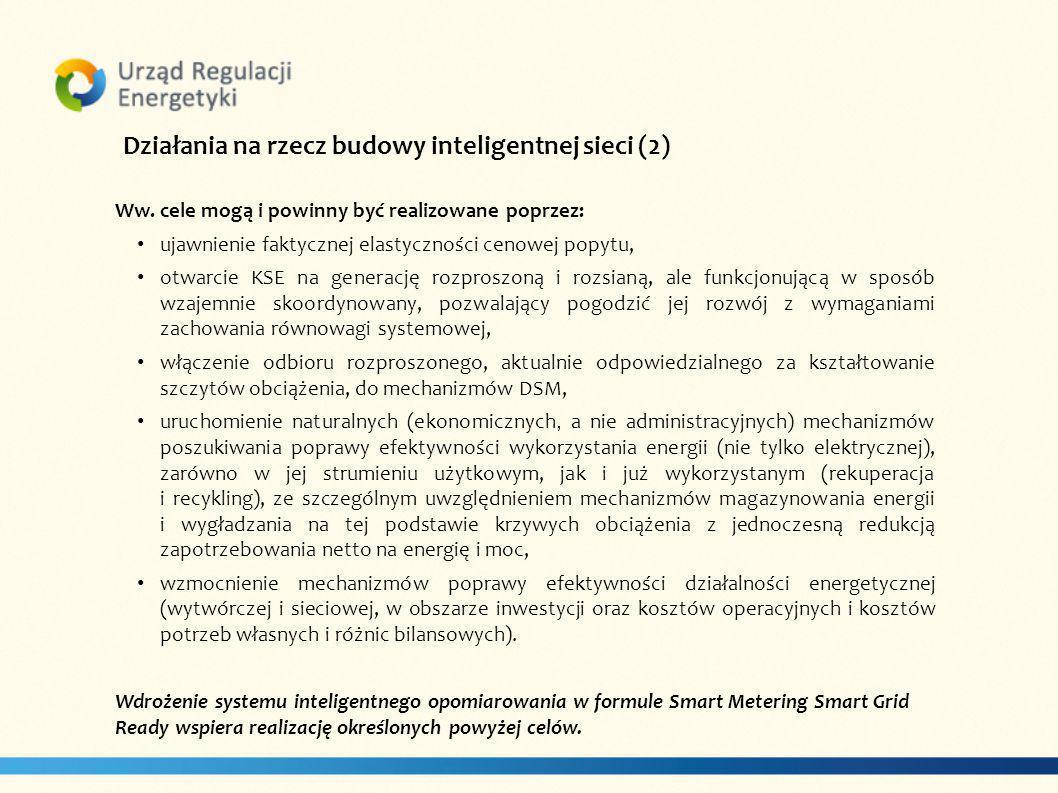 Działania na rzecz budowy inteligentnej sieci (2)
