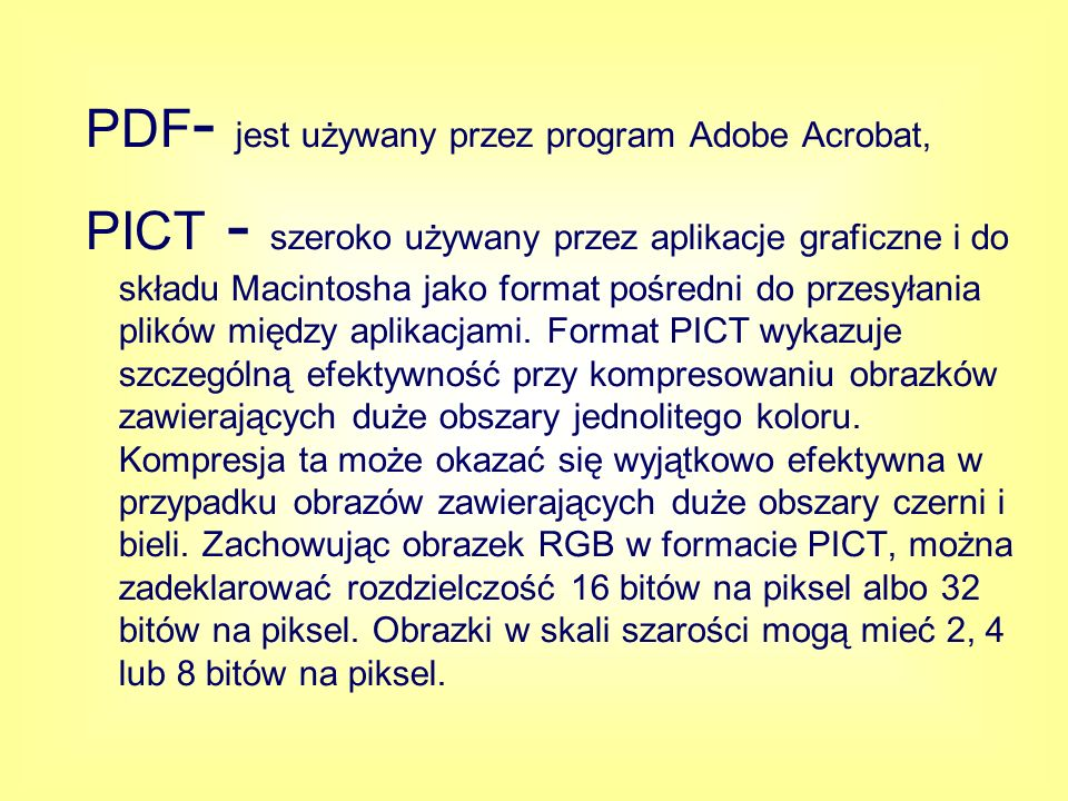 PDF- jest używany przez program Adobe Acrobat,