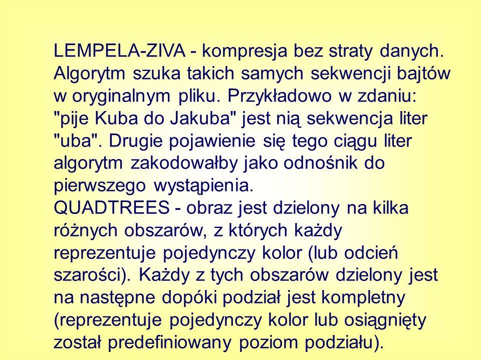 LEMPELA-ZIVA - kompresja bez straty danych