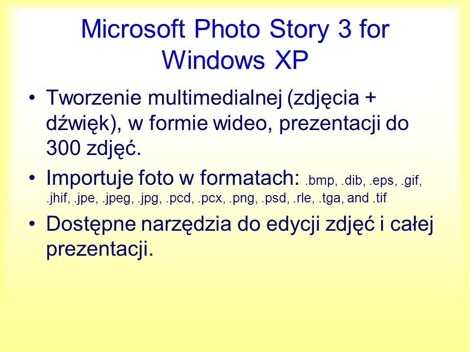 Microsoft Photo Story 3 for Windows XP