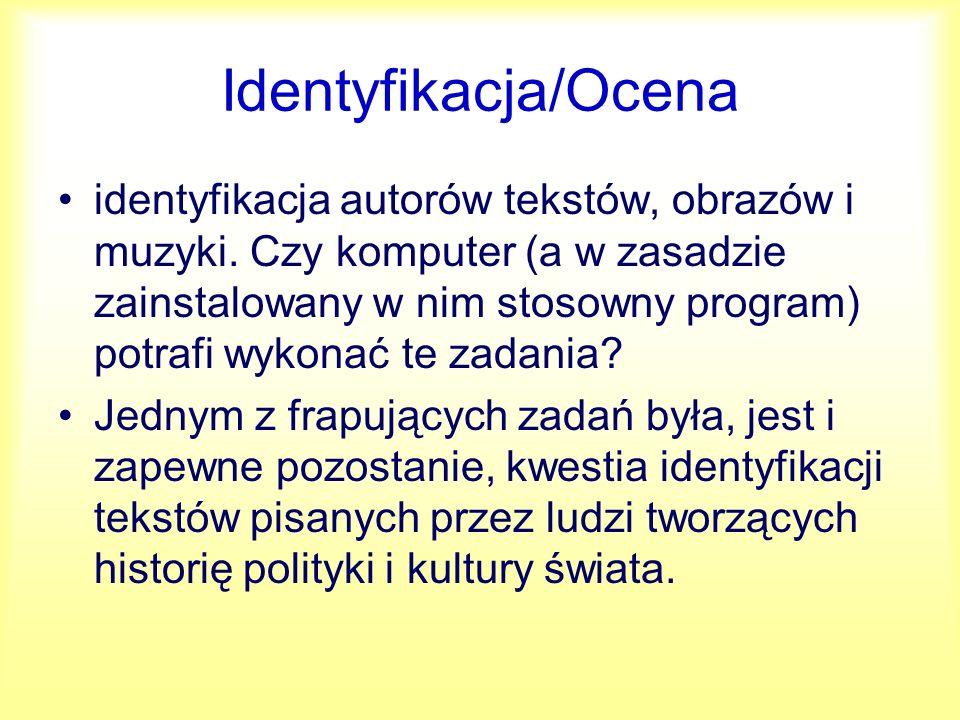 Identyfikacja/Ocena