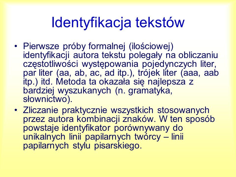 Identyfikacja tekstów